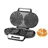 Waffle Maker Heart Shaped High Quality Semi Automatic Double Plates Electric Roaster Machine