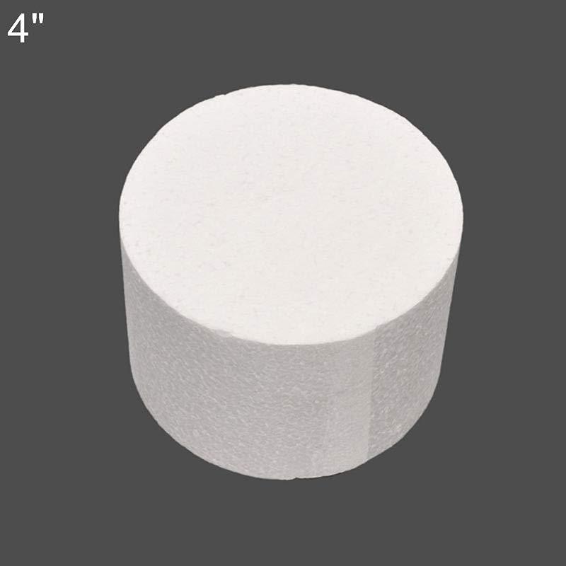 TYewa98556 4 6 8inch Round Styrofoam Foam Cake Dummy Sugarcraft Flower Decor Practice Model 4