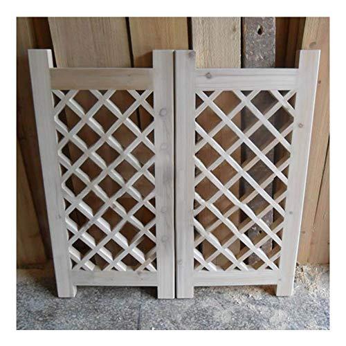 CAIJUN Swinging Doors Cafe Doors Solid Wood Patio Garden Gate Fence Gate Two-Way Open No Paint, K Custom 0.5-1.5m Width (Color : A, Size : 75x60cm)