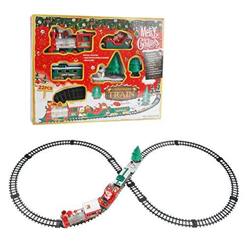 Kinder Kleine Bahngleis Spielzeug - Elektrische Eisenbahn Weihnachten Mini Spielzeugeisenbahn mit Musik Licht Kinder Spielzeug