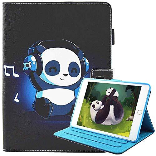 iPad Mini 4 / iPad Mini 3 / iPad Mini 2 / iPad Mini Funda [Pluma Libre del Tacto], Ultra Delgada Lindo Billetera Protective FolioCarcasa para Apple iPad Mini 4/Mini 3/Mini 2/Mini (Panda de música)