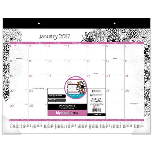 """AT-A-GLANCE Weekly / Monthly Appointment Book / Planner 2017, Premium, 8-1/2 x 11"""", Black/White (589-905)"""