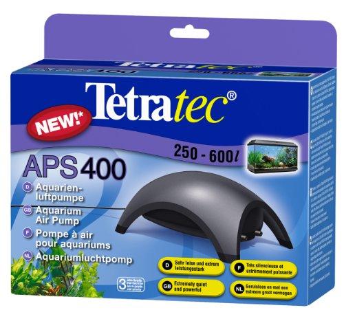 Tetra APS400 Silent Aquarium Air Pump for 250 - 600 Litre Fish Tanks, Black