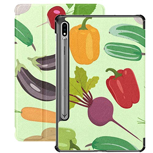 Custodia Samsung Galaxy S7 plus Verdure Immagini Verdure Custodia in pelle stile piatto per Samsung Galaxy Tab S7 Plus 12,4 pollici 2020, Samsung Galaxy Tab S7 plus Custodia Cover con auto-wake/sle