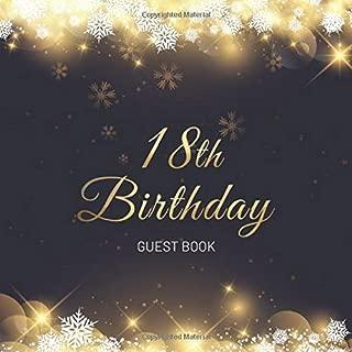 18th Birthday Guest Book: Christmas Snowflakes Stars Idea 8.5