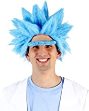 Adult Deluxe Ricky Sanchez Blue Wig and Eyebrow Costume Cosplay Accessory