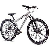 66,04 cm aluminio MTB MOUNTAIN DIRT BIKE bicicleta CHRISSON tinta UNISEX con 24 G 2 x disco SHIMANO walumin mate