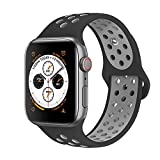 VIKATech Compatible pour Bracelet Apple Watch 44mm 42mm, Engrener Bracelet Sport Doux...