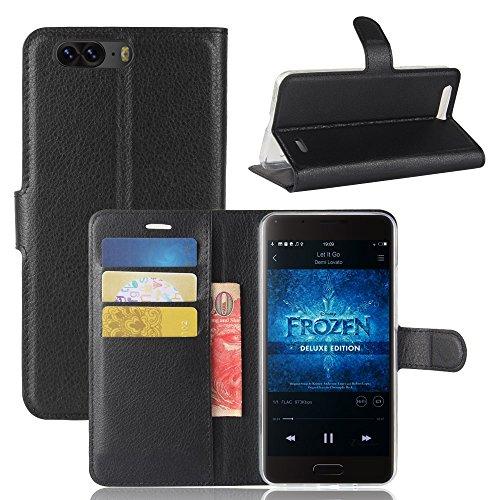 Litao-Case CN Hülle für Blackview P6 hülle Flip Leder + TPU Silikon Fixierh Schutzhülle Case 7