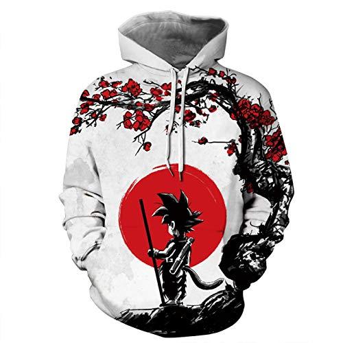 GIRLXV Cosplay Hip-Hop Hoodie Für Männer Im Frühling Und Herbst 3D-Digitaldruck Unisex Hochwertiges Top-Sweatshirt XL