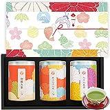 茶和家 お茶 ギフト 初摘み茶 150g + 特上 八十八夜茶 150g + 八十八夜茶150g 3缶セット[ギフト ラッピング]