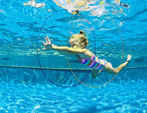 5 Packs Pool Toys Swim Thru Rings Games Diving Water Sports Slides Hoops Beach Accessories Under The Sea Party Supplies