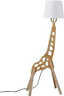Moderno Estilo nórdico lámpara de pie creativo Original Madera 1.1 m Jirafa de decoración madera Dibujos animados Decoración del hogar Luz pie para sala estar y dormitorio (Color de madera)