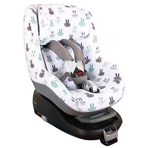 Maxi-Cosi Pearl Bezug Kindersitz von UKJE Auch für 2Way Pearl und Pearl Pro Kaninchen Schweißabsorbierend und weich für Ihr Kind Öko-Tex 100 Baumwolle Recycelbar