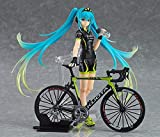 Anime Statue Hatsune Miku Figma 307# Racing 2015 TeamUKYO Aids Cycling Ver. Hand-made Ornaments Specifications about 14cm