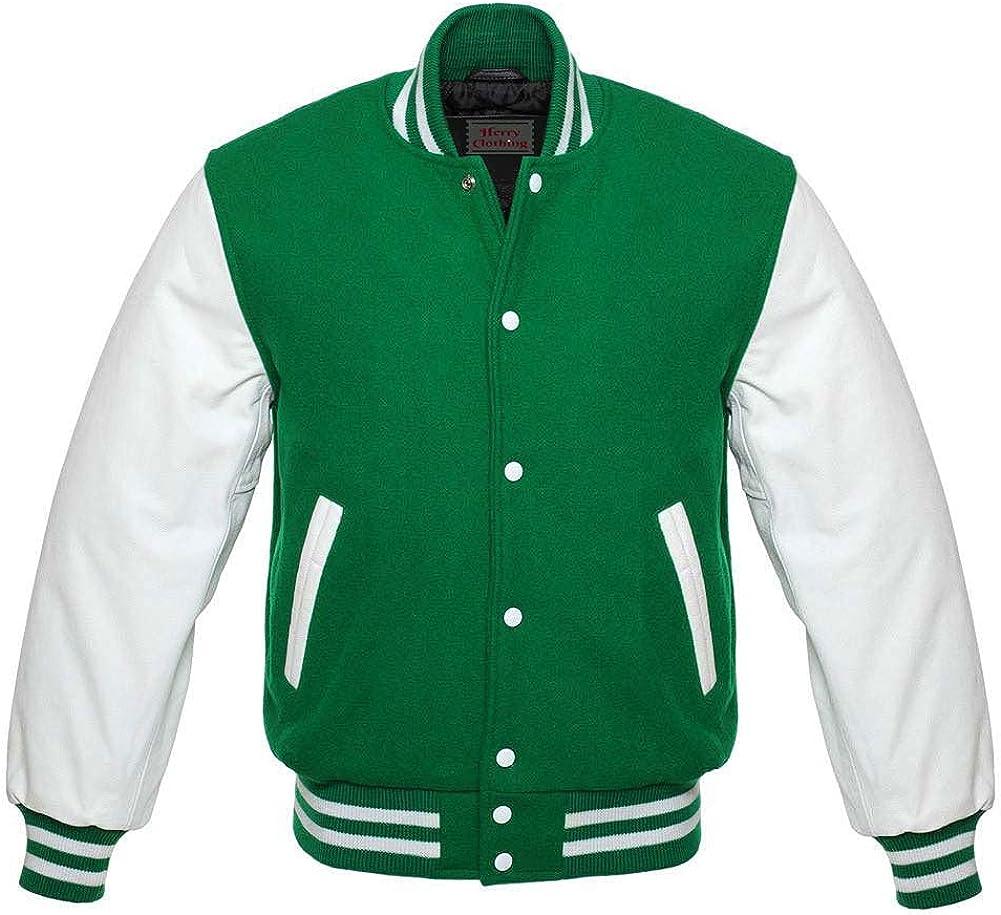 Letterman Baseball Bomber School College Varsity Import Wo Green Max 77% OFF Jacket