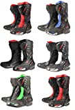 XTRM XT ADULT RACE SPORTS MOTORCYCLE BOOTS Motorbike Scooter Quad Biker Rider Men & Women On Road Racing Touring Heavy-Duty CE Certified Armour Protection Long Leather Boots (Green - UK 10/44 EU)