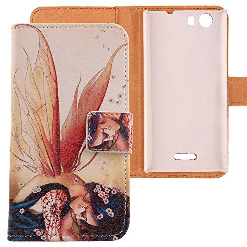 Lankashi PU Flip Leder Tasche Hülle Hülle Cover Handy Schutz Etui Skin Für 5
