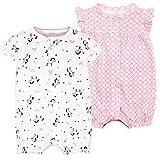 Bebé Verano Pelele Manga Corta Niñas Niños Pijama de Algodón Mameluco Monos Trajes para Infantil 9-12 Meses