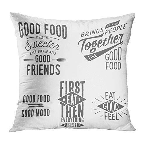 N\A Inspiration Vintage lié à la Nourriture Citations typographiques rétro café taie d'oreiller décor à la Maison taie d'oreiller carrée Housse de Coussin