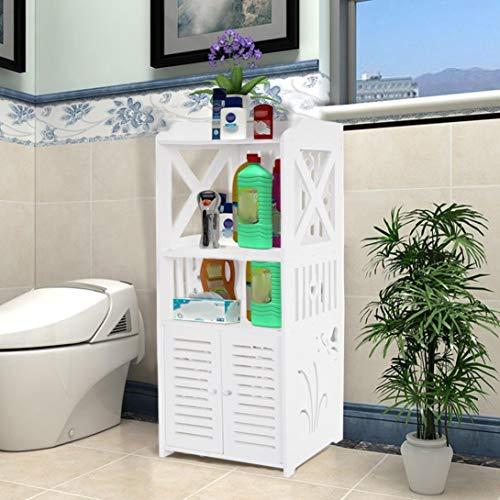 US FAST SHIPMENT 3-Tier Bathroom Storage Rack,Stand Corner Storage Cabinet,Ample Storage Capacity Furniture For Bathroom/Corridor/Balocony