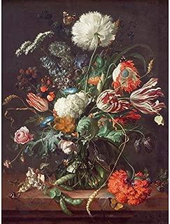 Jan Davidsz De Heem Vase of Flowers Unframed Wall Art Print Poster Home Decor Premium