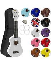 Mad About SU8 sopran ukulele i svart med GRATIS spelväska, plockning och reservsträngar