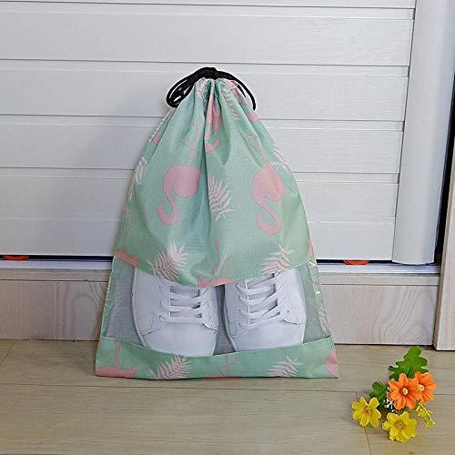 WYMBM 5Pc Schuhablagebeutel Schuhstaubbeutel Transparenter Schuhbezug Reiseschuhtasche-Flame Bird