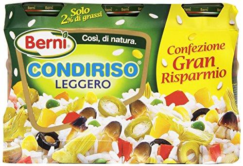 Condiriso - Leggero, in Vasetti da 300g, Peso Totale Sgocciolato 540g - 3 Vasetti