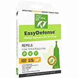 Only Natural Pet Flea and Tick Prevention for Medium Breed Dogs (15 to 40 lbs) - EasyDefense Flea Remedy - Natural Flea Treatment Control Herbal Squeeze-On Drops - Three Month Supply