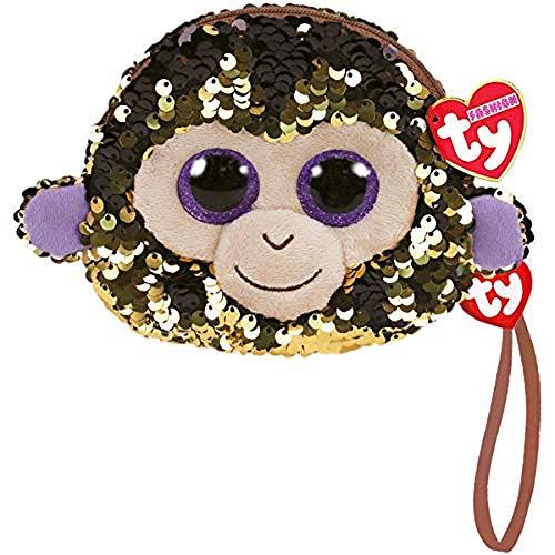 Monedero de Peluche con Lentejuelas, 10 cm – Coconut el Mono