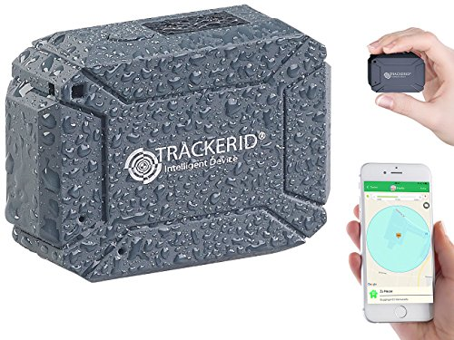 TrackerID GPS Sender: GPS- & GSM-Tracker, Live-Tracking-App, SOS-Funktion, Geofencing, IP66 (GPS Logger)