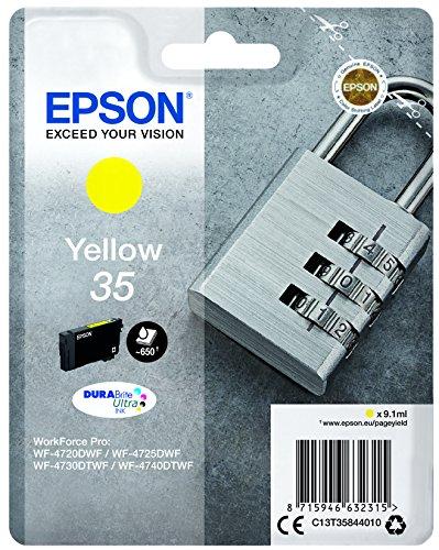 Epson Original 35 Tinte Schloss (WF-4720DWF WF-4725DWF WF-4730DTWF WF-4740DTWF) Amazon Dash Replenishment-fähig, gelb