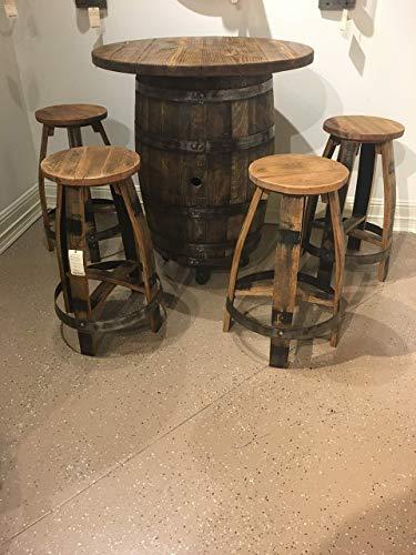 oak wine barrel table - 6