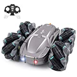 ❤【360 Degree Spins and Flips】The stunt RC car is powered by a powerful motor system that pushes the car to a top speed of 20km/h, 2.4G wireless remote able to control car toys up to about 130FT distance. With anti-interference ability for multiple rc...