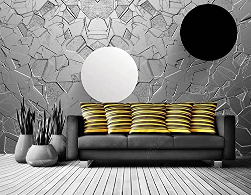 Wallpaper 3D Wallpapers Walls Mural Black and White Circle Wall Murals for Bedrooms Living Room Tv Background Wall Mural Decoration Art 150x105cm