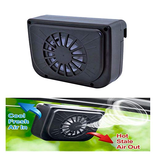 Solarbetriebener Auto-Fensterventilator Auto Solar-Kühler Lüftungslüfter Kühler Kühler Solar-Abluftventilator schwarz
