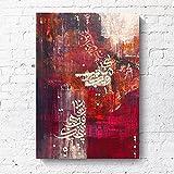 Cykably Leinwand Gemälde Wand Kunst MuslimiSchen Poster y Druck KalliGraphie Bilder Für Wohnzimmer Decor-C_50x70cm sin Marco