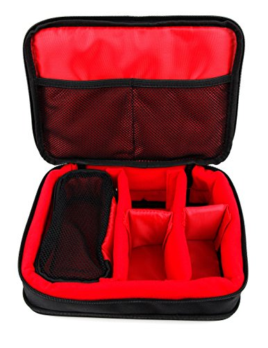 DURAGADGET Protective Black & Red EVA Storage Case - Compatible with BUIEJDOG Ultra Full HD WiFi Action Camera