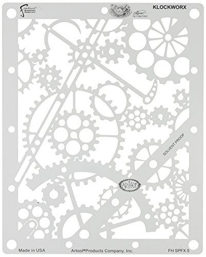 Stencil aerografo ARTOOL Steampunk-Fx 'Klockworx' by C. Fraser