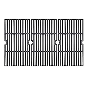 BBQ funland Porcelain Cast Iron Grill Grates Cooking Grid Replacement for Charbroil 463436213 463436214 463436215 463440109 Gas Grills 16 7/8  BBQ Grates Replacement Parts