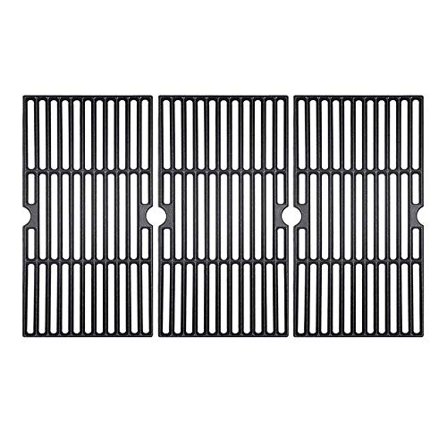 BBQ funland Porcelain Cast Iron Grill Grates Cooking Grid Replacement for Charbroil 463436213, 463436214, 463436215, 463440109 Gas Grills 16 7 8  BBQ Grates Replacement Parts