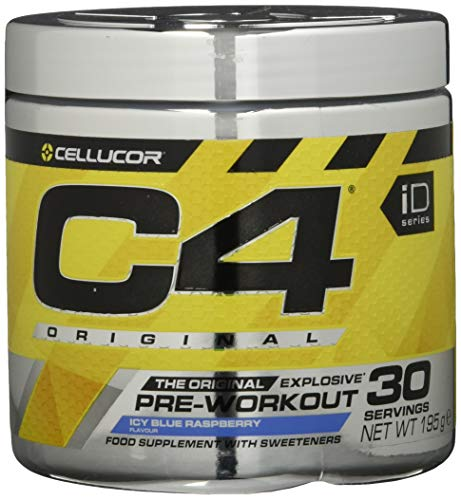 Cellucor | C4 Original - Pre-Workout Booster | Icy Blue Razz (Framboos) | 30 porties