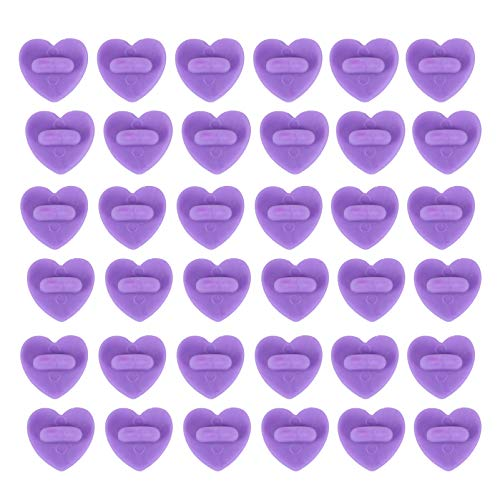 HEALLILY 100pcs Rubber Pin Backs Heart Shape Butterfly Clutch Backings Pin Cap Keepers Replacement for Uniform Badges Tie Tack Lapel Pin Backing Holder Purple