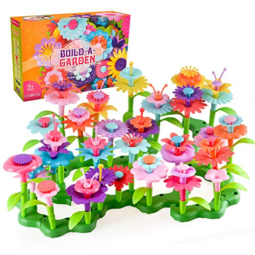 Birthday Gifts for 3-7 Year Old Girls, Kids Flowers Garden Toys Set for...