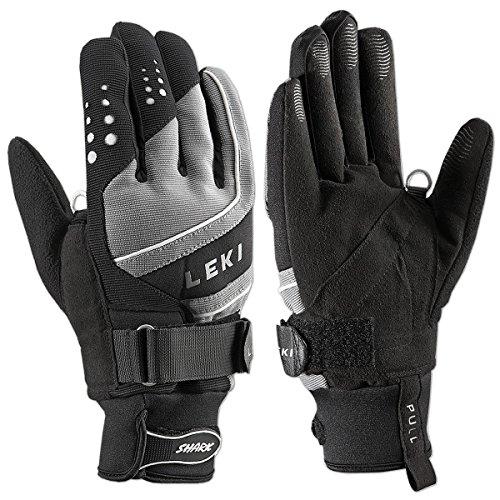 LEKI Handschuhe Shark Thermo Skihandschuhe (6.5, Schwarz-Grau)
