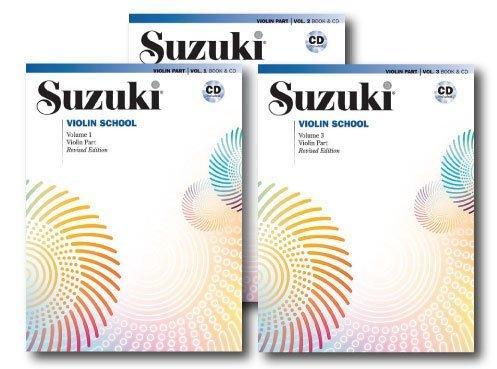 Suzuki Violin School, Violin Part, With Piano Accompaniment CD - 3 Books with CDs Set - Includes Volume 1, Volume 2 and Volume 3