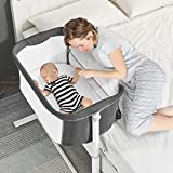 Baby Bassinet, RONBEI Baby Bedside Crib Sleeper Bed for Infants, Portable Infant Bassinet for Baby, Breathable Mesh
