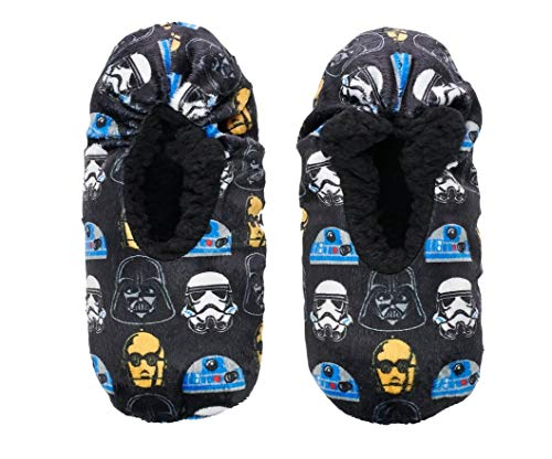 Star Wars Little Boys Character Faces Snuggle Toes Slipper Socks, S/M; Shoe Size 8-13