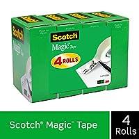 Scotchマジックテープ、3/4x 1000インチ、4-countパッケージ(810K4) サイズ: 4ロールCustomerPackageType :標準パッケージ、モデル:810K4、オフィスアクセサリー& Supply Shop